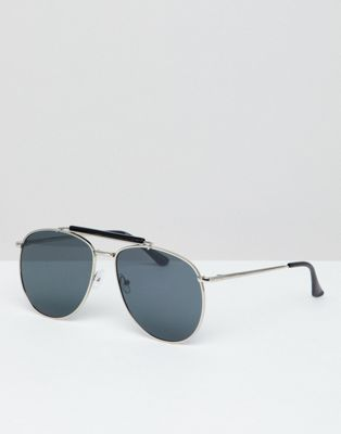 7x Aviator Sunglasses With Black Lens