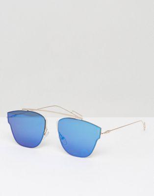 7X Coloured Lens Aviator Sunglasses