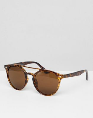 7x Round Sunglasses In Brown