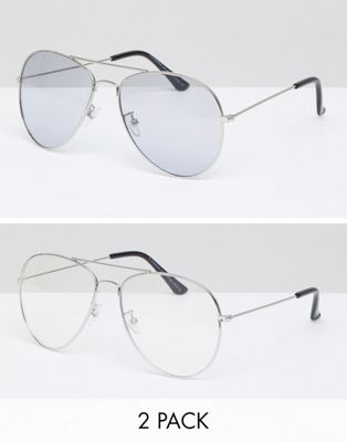 Image 1 of 7x Two Pack Aviator Sunglasses