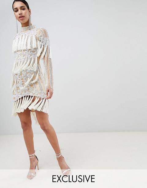 A Star Is Born Embellished Tassel Mini Dress