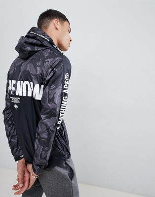 AAPE By A Bathing Ape jacket with back logo in black