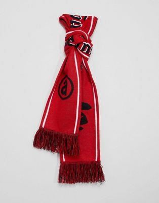 AAPE By A Bathing Ape Scarf With Reverse Camo In Red