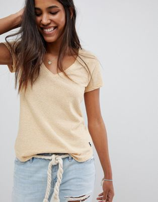Abercrombie & Fitch - Gestreept T-shirt met V-hals