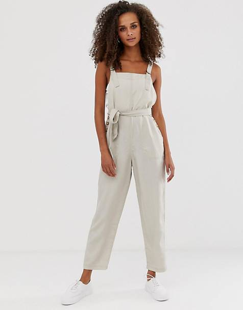 Abercrombie & Fitch – Jumpsuit med knytning i midjan