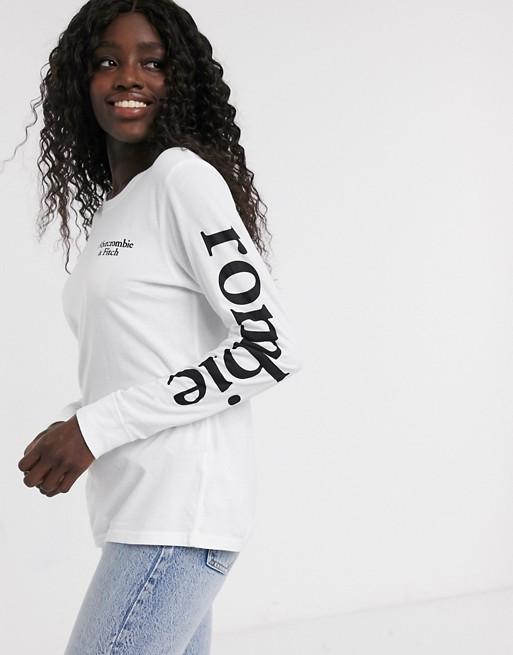Abercrombie & Fitch - Maglietta a maniche lunghe con logo