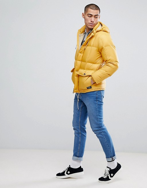 classic style of 2019 unbeatable price select for clearance Abercrombie & Fitch Puffer Jacket Hooded in Yellow