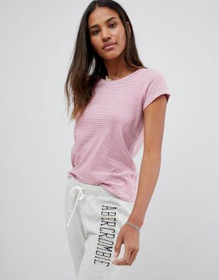 Abercrombie & Fitch - Regular-fit gestreept T-shirt