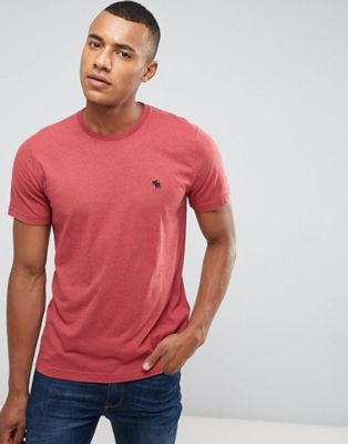 Abercrombie & Fitch Slim Fit T-Shirt Pop Icon Crew Neck in Red
