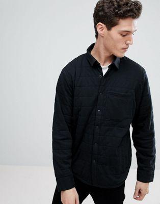 Afbeelding 1 van Abercrombie & Fitch - Sport - Doorgestikt overhemdjack in zwart