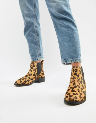 Image 1 of Accessorize chelsea boots in leopard pony