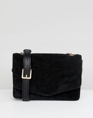 Image 1 of Accessorize Peggys suede chain detail cross body bag