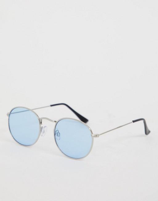Accessorize - Rosie - Blauwe ronde zonnebril