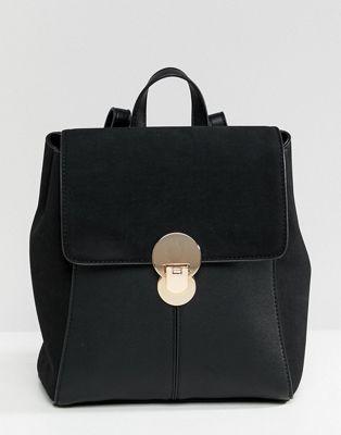 Accessorize - Tessa - Sac à dos avec fermoir - Noir