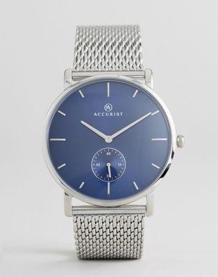 Accurist - 7126 - Orologio argento in maglia metallica