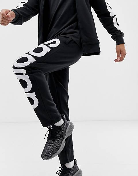 adidas Athletics logo pants in black