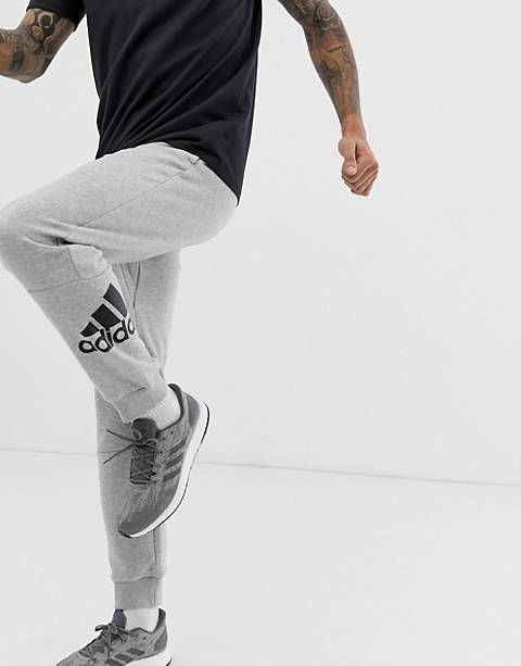 Adidas Athletics logo pants in gray