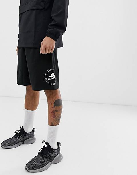 Adidas Athletics logo shorts in black