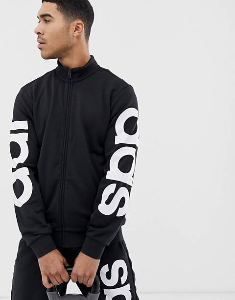adidas Athletics logo sweat in black