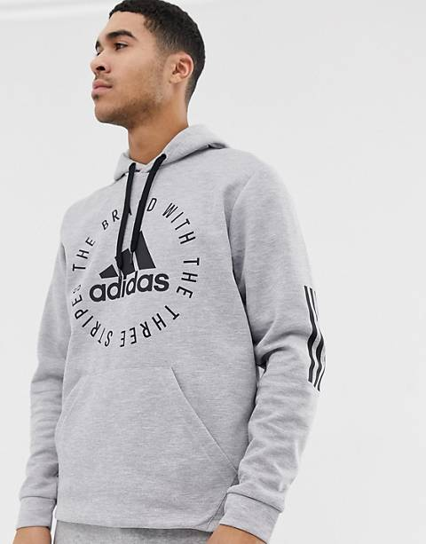 Adidas Athletics logo sweat in gray