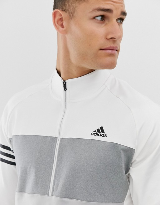 adidas Golf - Competition - Sweater met korte rits in wit