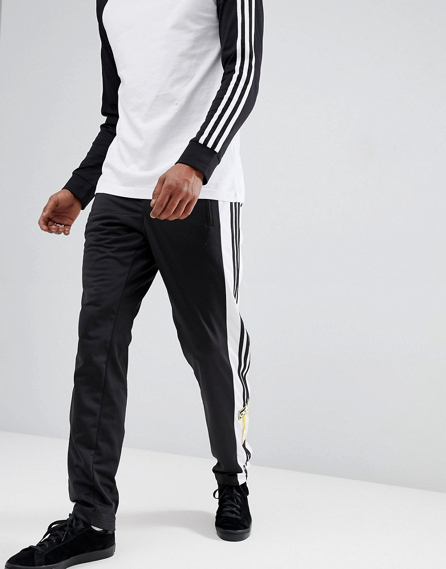 Adidas Originals Adibreak Popper Joggers In Black Cz0679 by Adidas Originals