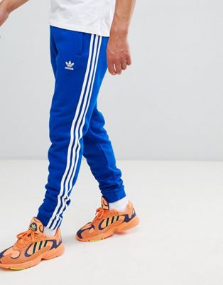 adidas Originals adicolor 3-Stripe Joggers In Blue CW2430
