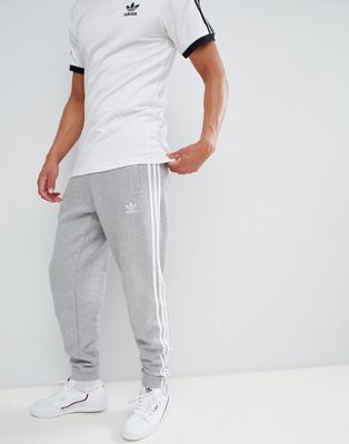 adidas Originals adicolor 3-Stripe Joggers In Grey CY4569