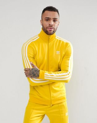 adidas Originals adicolor Beckenbauer Track Jacket In Yellow CW1254