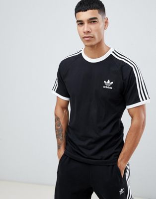adidas Originals adicolor California T-Shirt In Black CW1202