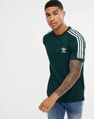 adidas Originals adicolor California T-Shirt In Green CZ4545