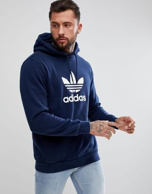 adidas Originals adicolor Hoodie With Trefoil Logo In Navy CX1900
