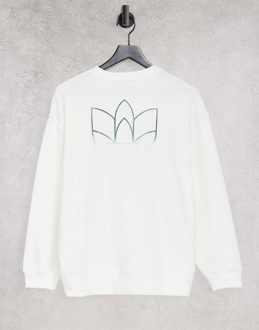 adidas Originals - adicolor - Hvid oversized sweatshirt med logo