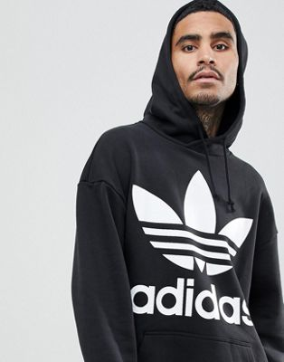 adidas Originals adicolor Oversized Hoodie In Black CW1246