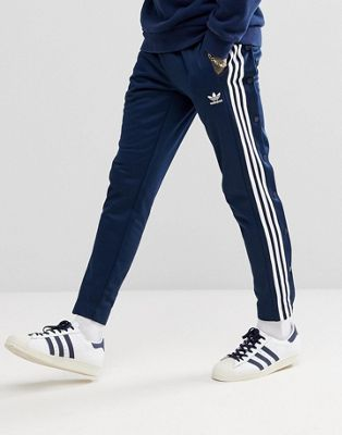 adidas Originals adicolor Popper Joggers In Navy CW1285