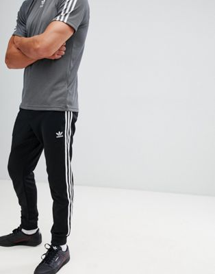 adidas Originals adicolor Skinny joggers cuffed in black cw1275