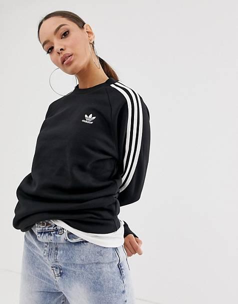 d9d19319c538 adidas Originals - adicolor - Sweat-shirt ras de cou à trois bandes - Noir