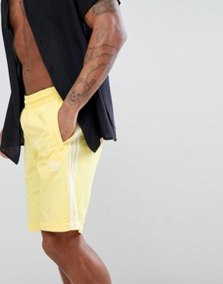 adidas Originals adicolor Swim Shorts In Yellow CW1307