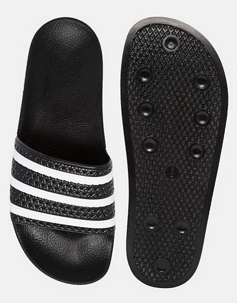 adidas Originals Adilette sliders in black