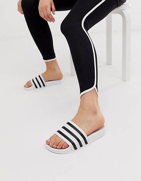 adidas Originals Adilette white and black slider