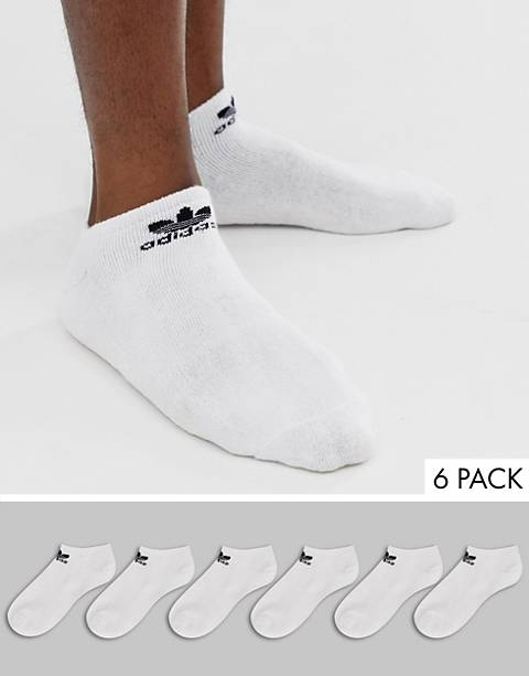 adidas Originals ankle socks 6 pack in white