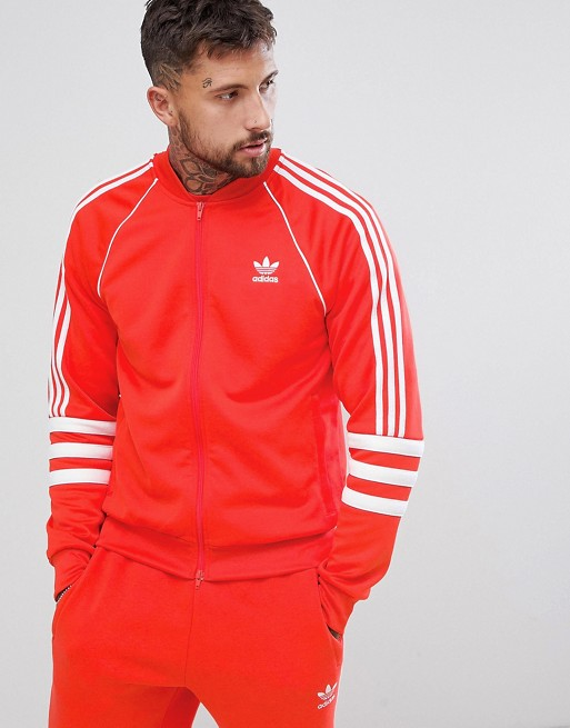 adidas Originals - Authentic - Superstar - Veste de survêtement - Rouge DJ2858