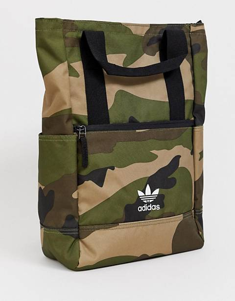 adidas Originals backpack tote in camo