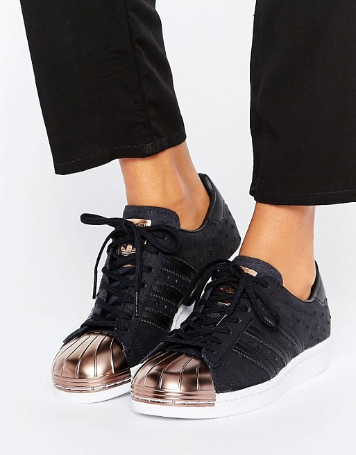 4392a37b02 Home  adidas Originals Black Metallic Superstar Trainers With Rose Gold Toe  Cap. image.AlternateText