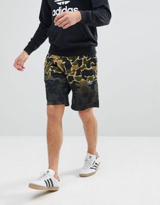 adidas Originals Camo Shorts In Green CE1546