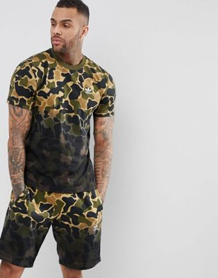 adidas Originals Camo Tee In Green CE1548