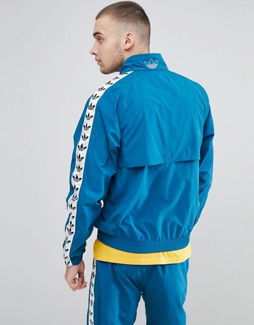 adidas Originals CE4827 Giacca sportiva vintage con fettuccia laterale blu