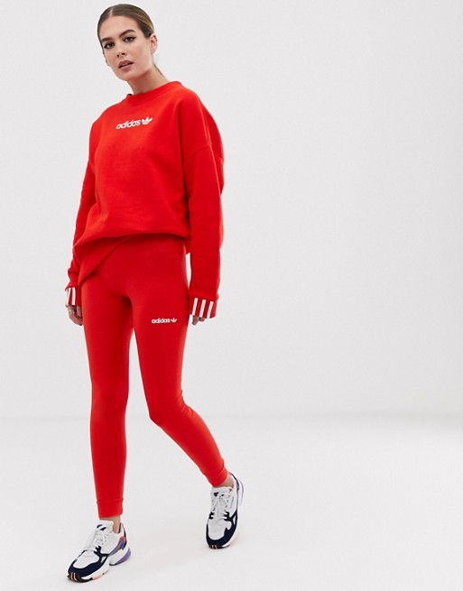 9c9c69d0c19 adidas - Originals - Coeeze - Legging in rood | ASOS
