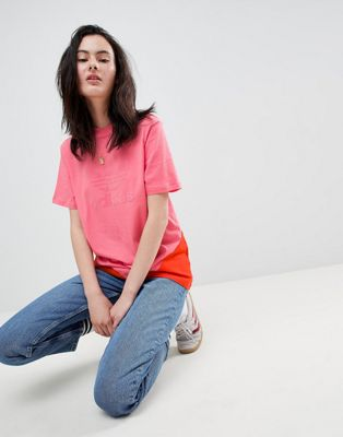 adidas Originals Colorado Paneled Trefoil T-Shirt In Pink