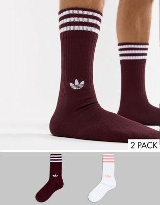 adidas Originals - Confezione da 2 paia di calzini rossi DH3361